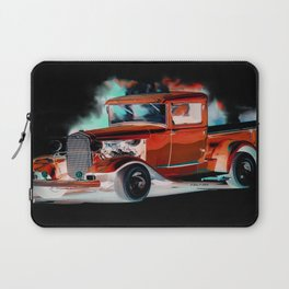 Red Street Rod By Annie Zeno  Laptop Sleeve