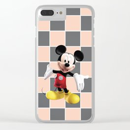 Mickey Mouse V Clear iPhone Case