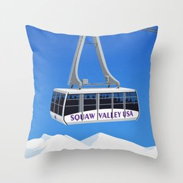 Squaw Valley Ski Resort ,LakeTahoe , California Throw Pillow