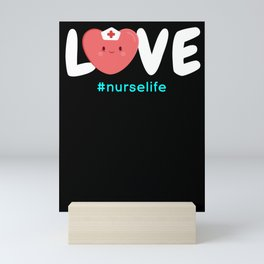 Nurse Life Nurse Gifts Love Nursing CNA LPN RN  Mini Art Print