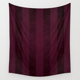 Red Wine Stripes Wall Tapestry