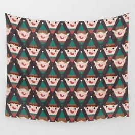 Santa's Little Helpers (Patterns Please) Wall Tapestry