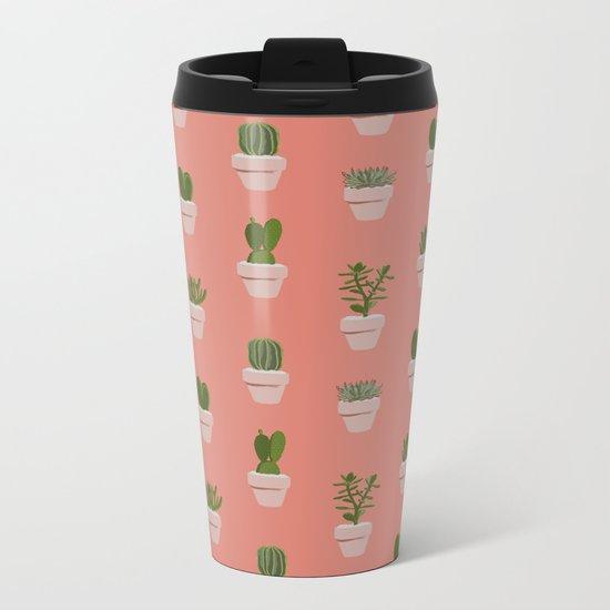 Cacti & Succulents Metal Travel Mug