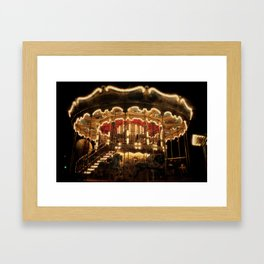 Paris, France Merry-go-round Photography in Stock 8 x 10 Fine Art Photography Vintage Retro Framed Art Print