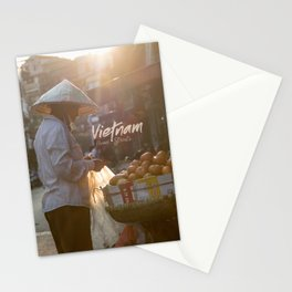 Vietnam Street Market (With text) Stationery Cards