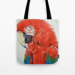 Crimson Macaw Tote Bag
