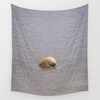 seashell Wall Tapestries featuring Seashell II by Maria Heyens