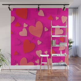 Decorative paper heart 3 Wall Mural