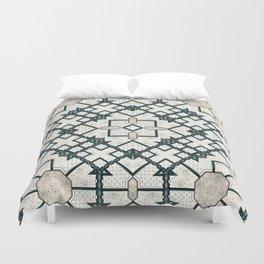 Victorian Art Deco Medieval Pattern light gray SB22 Duvet Cover