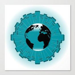 Urban Planet Earth Canvas Print
