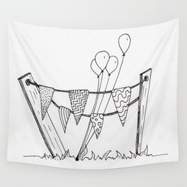 Quirky Celebratory Decorations Wall Tapestry