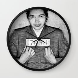 Rosa Parks Arrest Photo Wall Clock