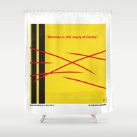 tarantino Shower Curtains featuring No049 My Kill Bill - part 2 minimal movie poster by Chungkong