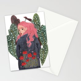 Holding plant Stationery Cards