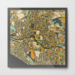 MELBOURNE MAP Metal Print
