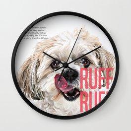 RUFF RUFF Wall Clock