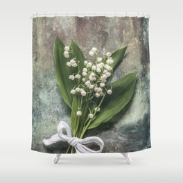 Beautiful Lily Of The Valley Shower Curtain