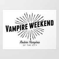 modern vampires of art history Art Prints featuring Vampire Weekend // Modern Vampires of the City by alquimie