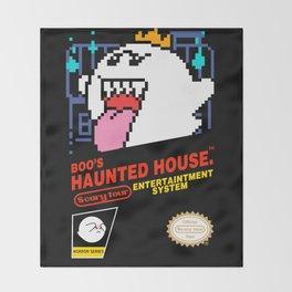 Super Mario Boo NES box art Throw Blanket