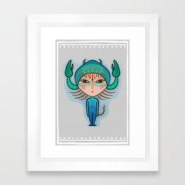 scorpio zodiac sign Framed Art Print