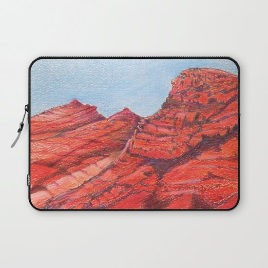 Red Clay Mountain By Catherine Coyle Laptop Sleeve