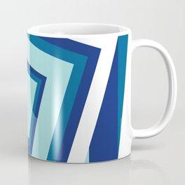 Geometric in classic blue Coffee Mug