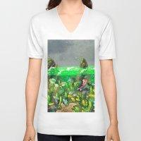 underwater V-neck T-shirts featuring Underwater by Lara Paulussen