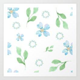 Beautifully Blue Art Print