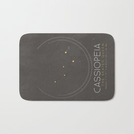 Cassiopeia - The Seated Queen Constellation Bath Mat