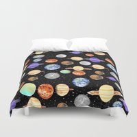 planets Duvet Covers featuring Planets by NaturePrincess