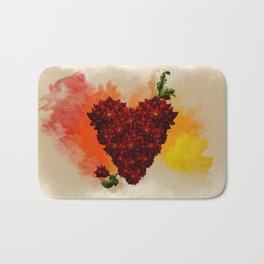 Blooming Heart Bath Mat