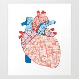 Anatomical Heart - For Cardiac Nurse Cardiologists Art Print