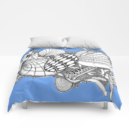 Gifts from the Sea Zentangle Style Comforters