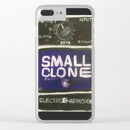 Guitar Pedal Acrylic Painting Clear iPhone Case