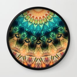 Colorful Abstract Sun Wall Clock