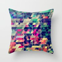 patterns Throw Pillows featuring Atym by Spires