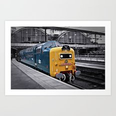 Kings Cross Blue Art Print