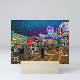 Pacific Park at the Santa Monica Pier Mini Art Print