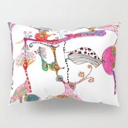 Funky Wondering Birds Pillow Sham