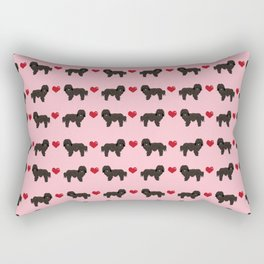 Havanese black coat love hearts valentines day dog breed gifts pure breed must haves Rectangular Pillow