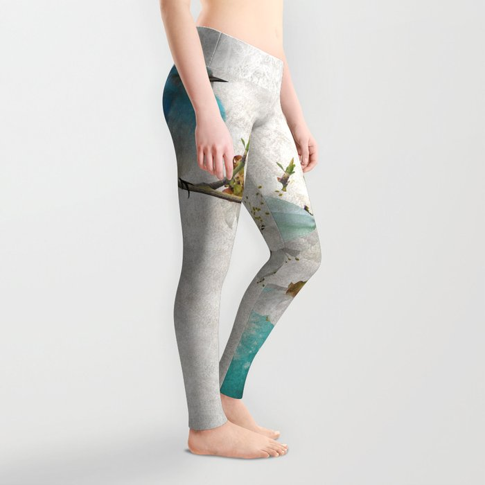 Blue bird & egg Leggings