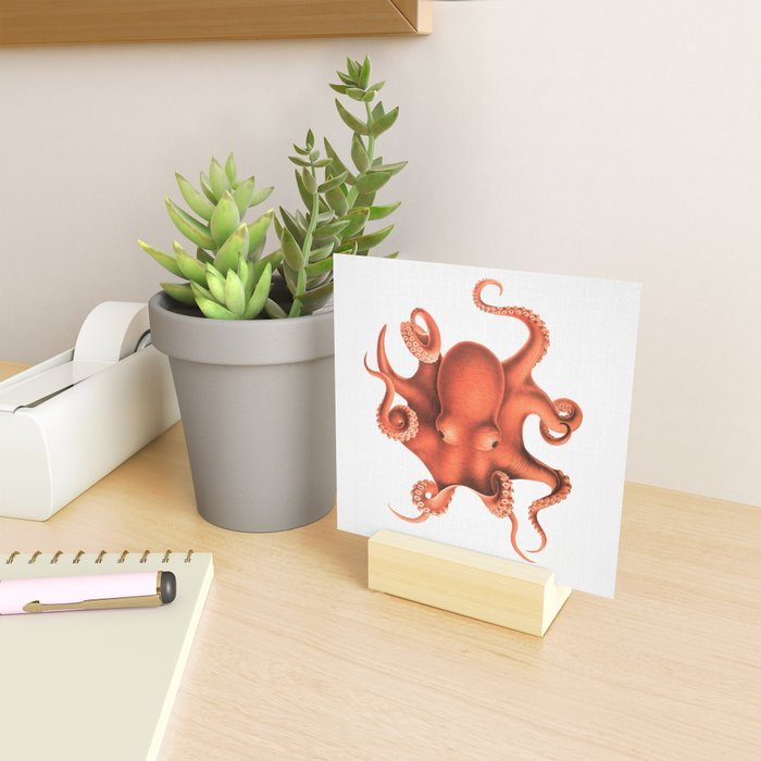 Octopus - Watercolor Mini Art Print