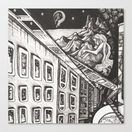 Chasm: Detail 1 Canvas Print