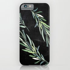 Eucalyptus leaves on chalkboard iPhone 6s Slim Case