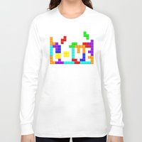 tetris Long Sleeve T-shirts featuring Tetris Love by Wheel of Fortune