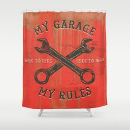 My garage Shower Curtain
