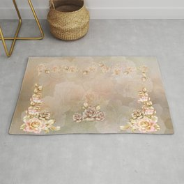First Blush of Roses Rug
