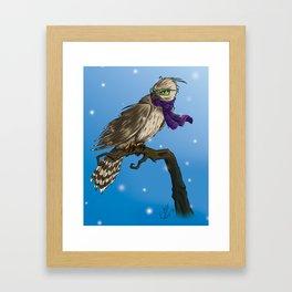 Hawk In Winter Framed Art Print