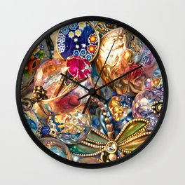 Ruby Liberty Dragonfly Wall Clock