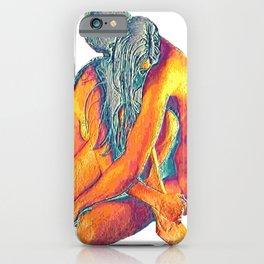 Hug o' War   Hug of War Nude Couple Cuddling iPhone Case